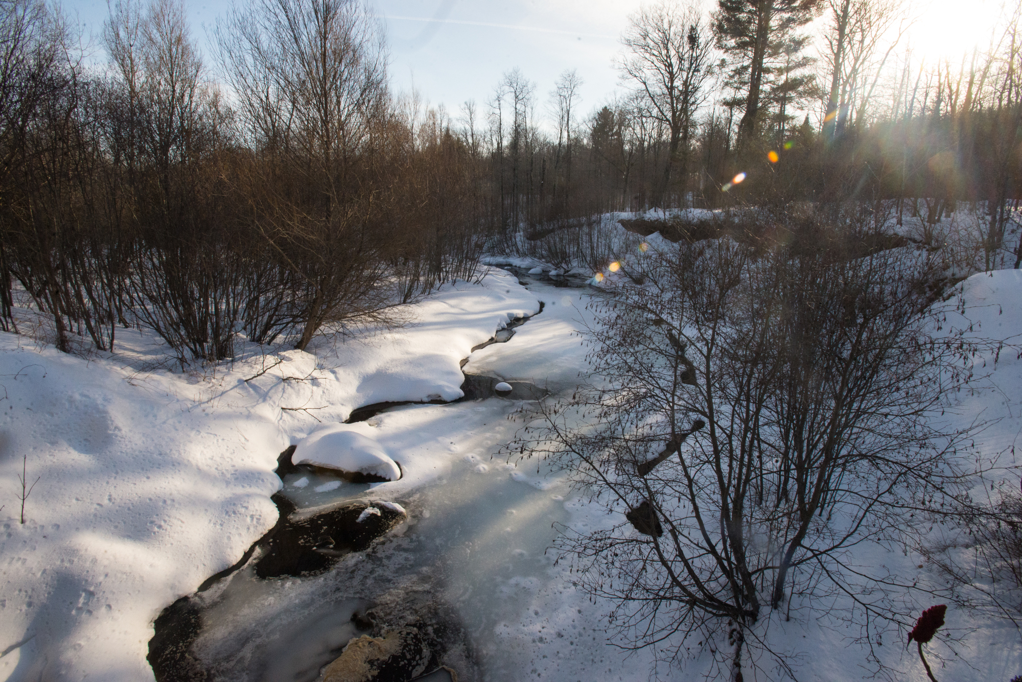 winter river rusk county wi