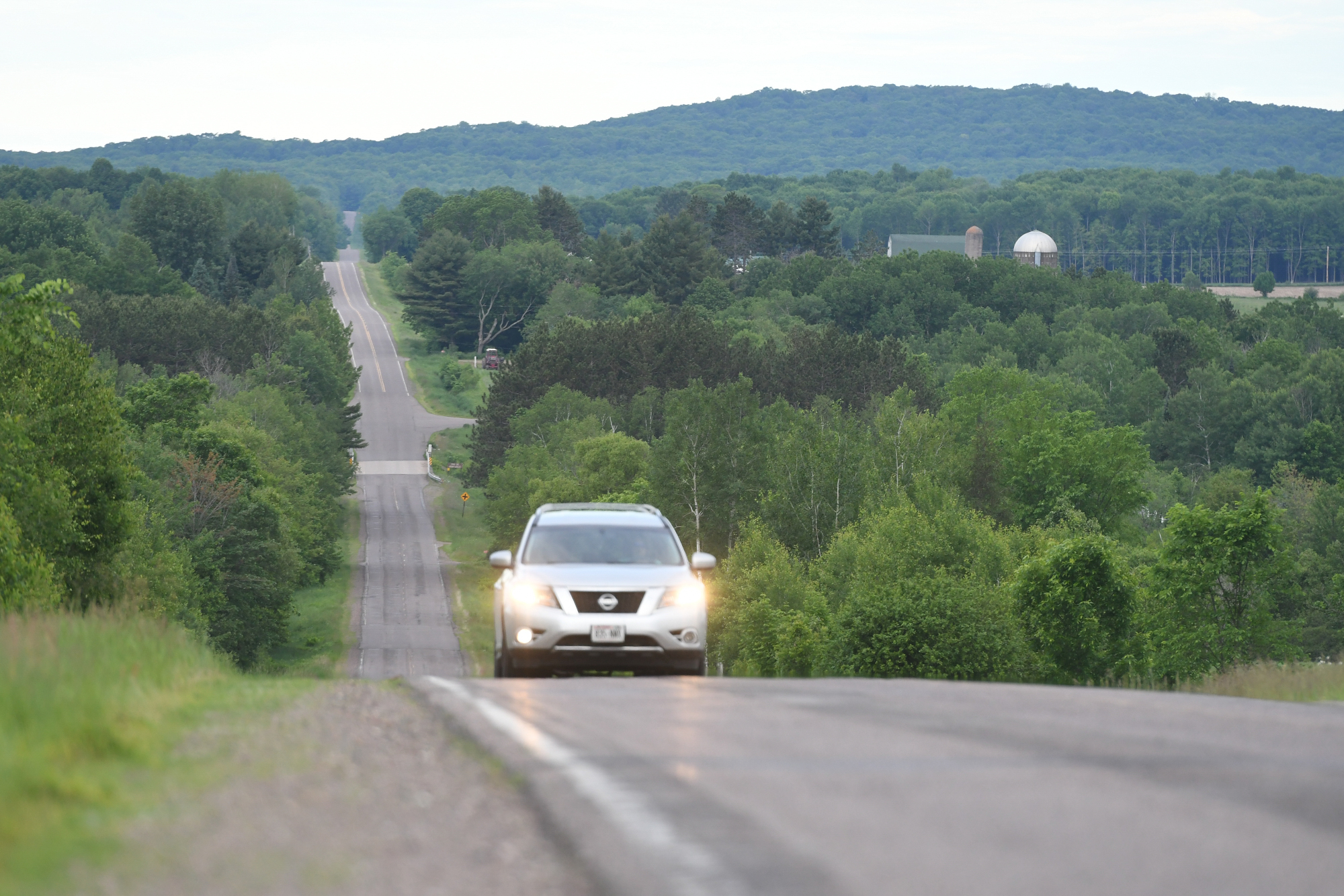 car driving in blue hills rusk county wi