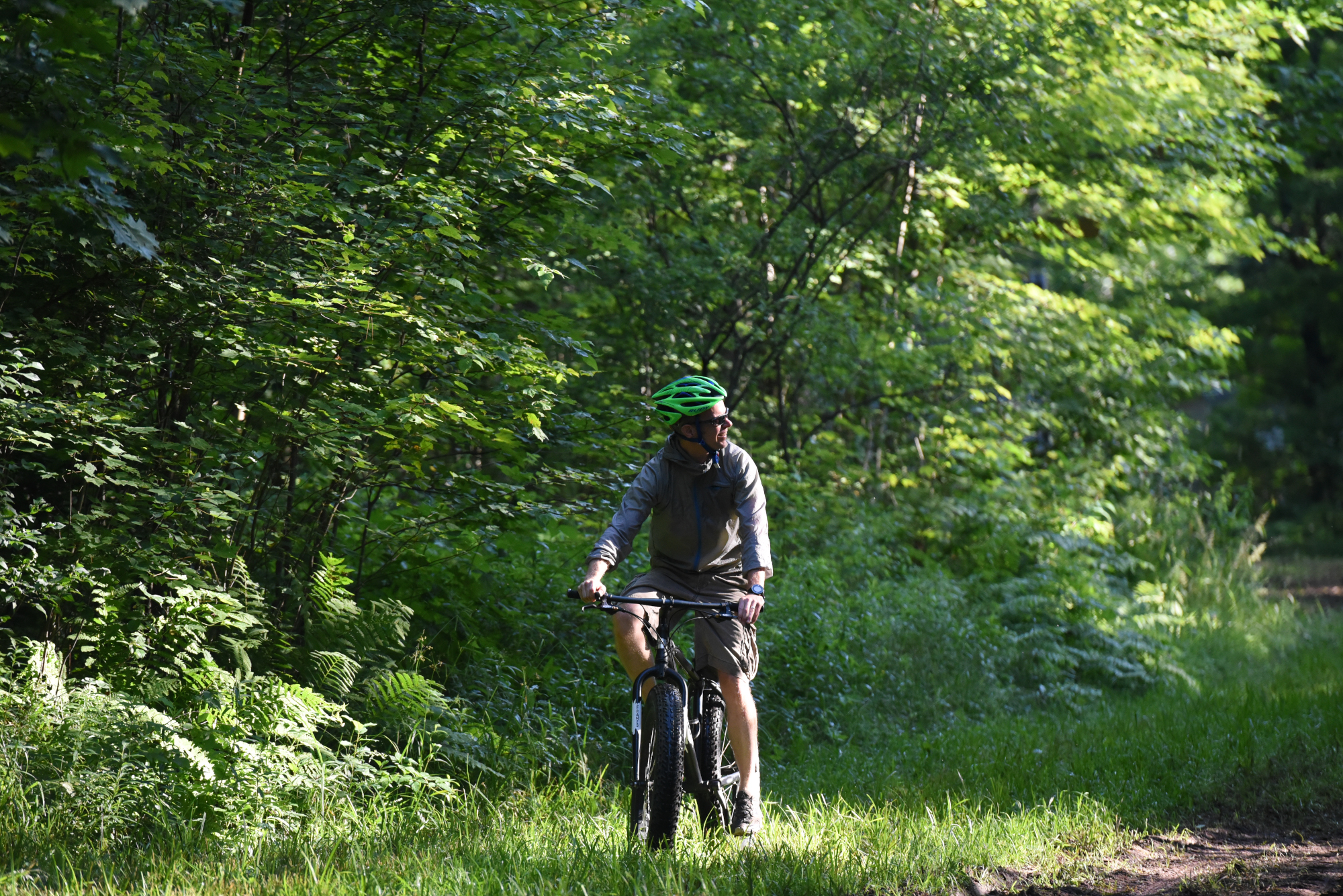 biking in blue hills rusk county wi