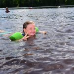 Swimming at Memorial Park in Rusk County WI